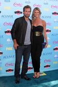Erin Andrews and Jarret Stoll at the 2013 Teen Choice Awards Arrivals, Gibson Amphitheatre, Universa
