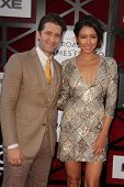 Matthew Morrison and Renee Puente at the Comedy Central Roast Of James Franco, Culver Studios, Culve
