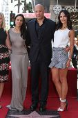 Jordana Brewster, Vin Diesel and Michelle Rodriguez at the Vin Diesel Star on the Hollywood Walk of