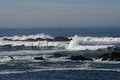 California Coast Landscape with Pacific Ocean Horizon