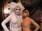Sister Roma and Rena Riffel at the Peaches Christ SHOWGIRLS Night of 1000 Showgirls Event featuring