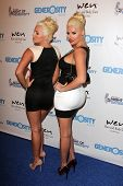 Karissa Shannon and Kristina Shannon at the 5th Annual Night of Generosity, Beverly Hills Hotel, Beverly Hills, CA 09-06-13