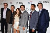Rob Greenberg, Tony Shalhoub, Rebecca Breeds, Chris Smith, Kal Pen, Jerry O'Connell at the PaleyFest