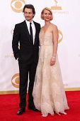 Claire Danes and Hugh Dancy at the 65th Annual Primetime Emmy Awards Arrivals, Nokia Theater, Los Angeles, CA 09-22-13
