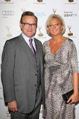 Hugh Bonneville and Lulu Williams at the 65th Annual Emmy Awards Performers Nominee Reception, Pacific Design Center, West Hollywood, CA 09-20-13