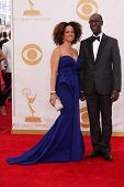 Don Cheadle and Bridgid Coulter at the 65th Annual Primetime Emmy Awards Arrivals, Nokia Theater, Lo