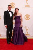 Alexis Denisof and Alyson Hannigan at the 65th Annual Primetime Emmy Awards Arrivals, Nokia Theater,