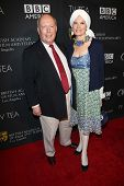 Julian Fellowes and Emma Kitchener-Fellowes at the BAFTA Los Angeles TV Tea 2013, SLS Hotel, Beverly
