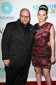 Stephen Kramer Glickman and guest at the Joyful Heart Foundation celebrates the No More PSA Launch,
