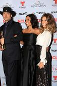 Robert Rodriguez, Rosario Dawson and Jessica Alba at the 2013 NCLR ALMA Awards Press Room, Pasadena