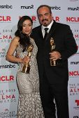 Aimee Garcia and David Zayas at the 2013 NCLR ALMA Awards Press Room, Pasadena Civic Auditorium, Pas