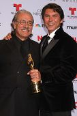 Edward James Olmos and Lou Diamond Phillips at the 2013 NCLR ALMA Awards Press Room, Pasadena Civic Auditorium, Pasadena, CA 09-27-13