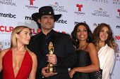 Alexa Vega, Robert Rodriguez, Rosario Dawson and Jessica Alba at the 2013 NCLR ALMA Awards Press Roo
