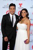 Mario Lopez and wife at the 2013 NCLR ALMA Awards Arrivals, Pasadena Civic Auditorium, Pasadena, CA 09-27-13