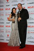 Aimee Garcia and David Zayas at the 2013 NCLR ALMA Awards Press Room, Pasadena Civic Auditorium, Pasadena, CA 09-27-13