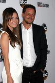 Camilla Luddington and Justin Chambers at the