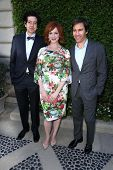 Geoffrey Arend, Christina Hendricks and Eric McCormack at The Rape Foundation's Annual Brunch, Private Location, Beverly Hills, CA 09-29-13