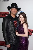 Robert Rodriguez and daughter at the