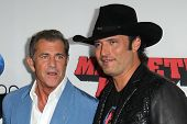 Mel Gibson and Robert Rodriguez at the