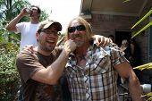 Patricio Valladares and Greg Ingram on the set of