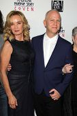 Jessica Lange and Ryan Murphy at the