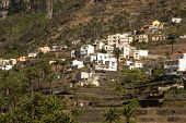 Village on the slope