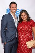 Brian McDaniel and Angelica McDaniel  at the CBS Daytime After Dark Event, Comedy Store, West Hollyw