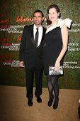 Geena Davis and husband Reza Jarrahy at the Wallis Annenberg Center For The Performing Arts Inaugural Gala, Wallis Annenberg Center For The Performing Arts, Beverly Hills, CA 10-17-13