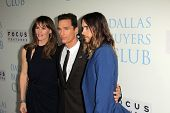 Jennifer Garner, Matthew McConaughey and Jared Leto at the