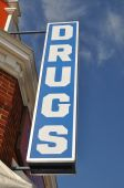 Vintage Drugs Store Sign