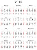 stock photo of august calendar  - A simple calendar for orientation in 2015 - JPG
