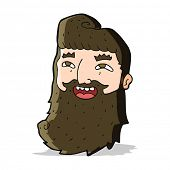 cartoon man with beard laughing