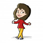stress free woman cartoon