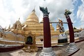 Maha Lokamarazein Kuthodaw Pagoda In  Myanmar.