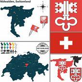 Map Of Nidwalden, Switzerland