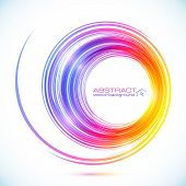 Abstract colorful vector circle frame