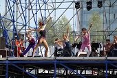 Perm, Russia - Jun 17, 2013: Dancers At Rehearsal On Stage At White Nights Festival. Million People