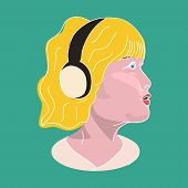 Girl In The Headphones