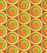 Circles And Swirls Vintage Seamless Pattern