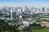 Overview Of A Bangkok's Business And Residential Areas