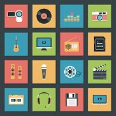 Multimedia Icons Set