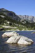 Rocks In The Lake
