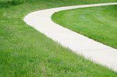 Path On Grass