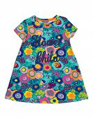 Baby Dress With Floral Pattern.