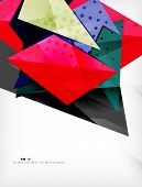 Abstract colorful overlapping shapes 3d composition