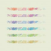 Abstract Background with Colorful Dotted Lines Pattern