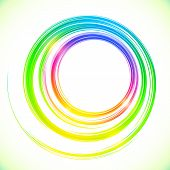Abstract vector colorful circles frame