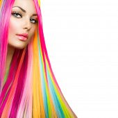 image of colore  - Colorful Hair and Makeup - JPG