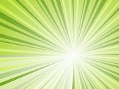 Abstract green rays horizontal background