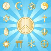International Peace Symbol, World Religions
